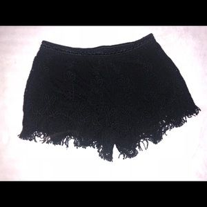 Size small black lace shorts